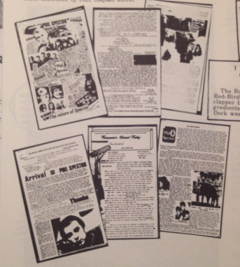 Image of the six 60s PSAS newsletters as shown in Philately # 4.