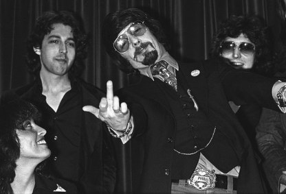 Insecurity behind the swagger? Phil Spector with the Kessel Brothers during the 70s.