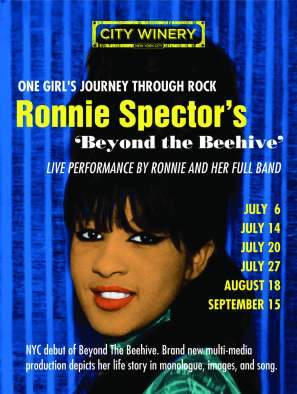 Add for New York dates on Ronnie's 'Beyond the Beehive' tour.