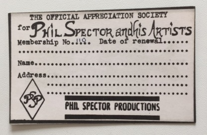 Why, it's an original Membership Card for the PSAS, just waiting to be filled out with my name! Sadly, I've joined the party almost 50 years too late.