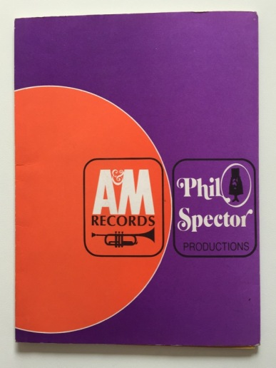 A&M promotional folder, closed.